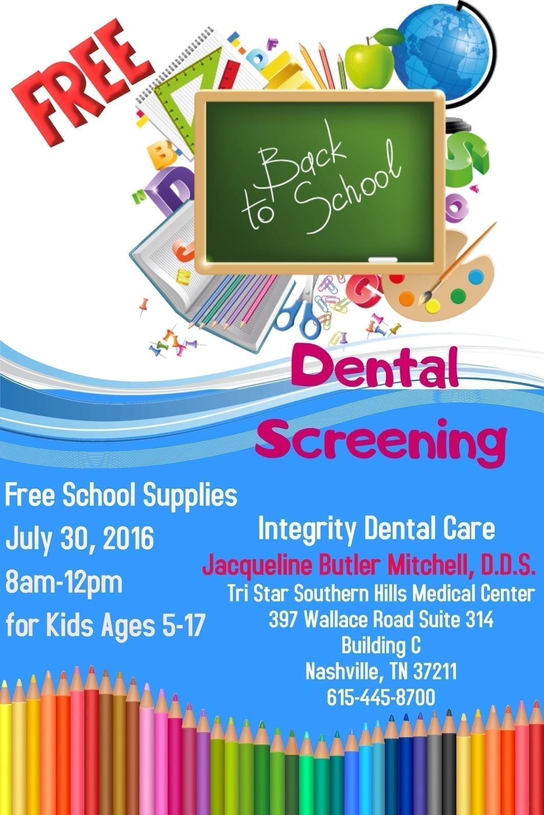 Dental event poster