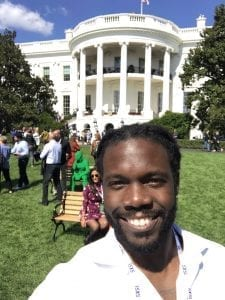 Marcus Whitney at the White House