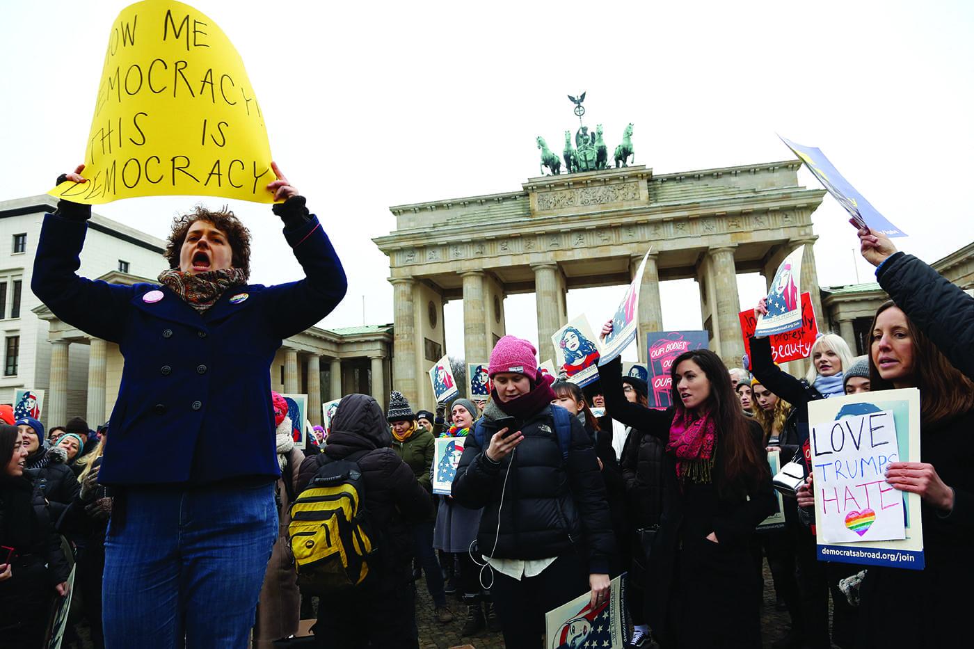 Women Demonstrate Against Trump Around the World