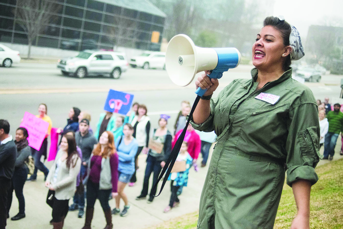 March In Defense Of Women's Rights Held In Columbia, South Carolina