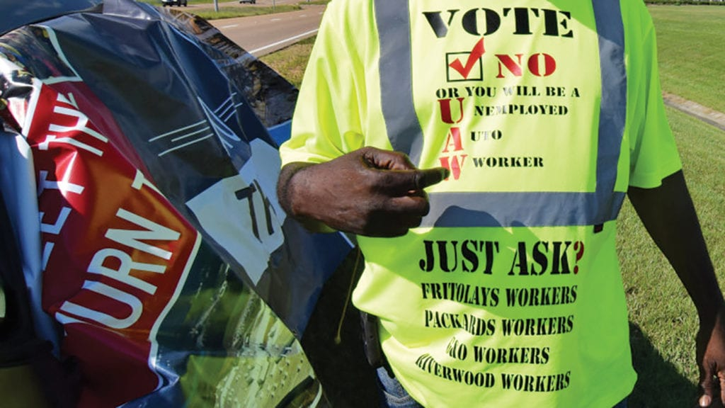Nissan Mississippi Workers Vote Heavily Against