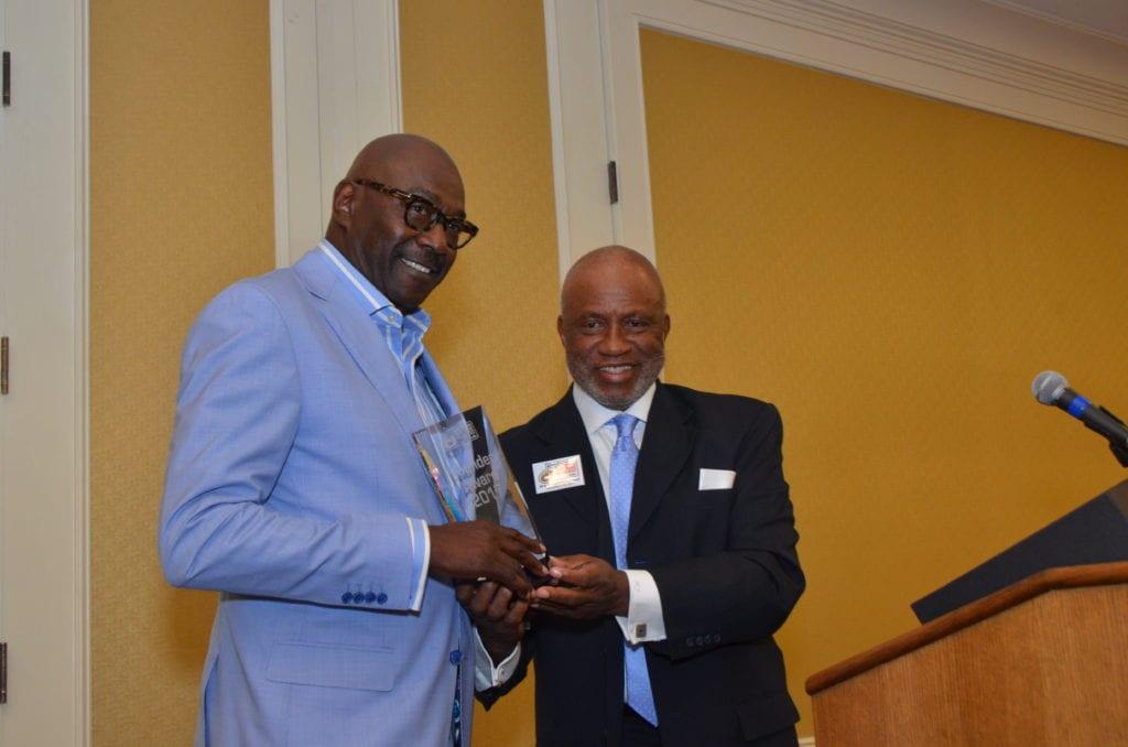 3The Awarding of the President Founder's Award, Willie Gregory(NIKE)& Memphis Mayor Jim Strickland.