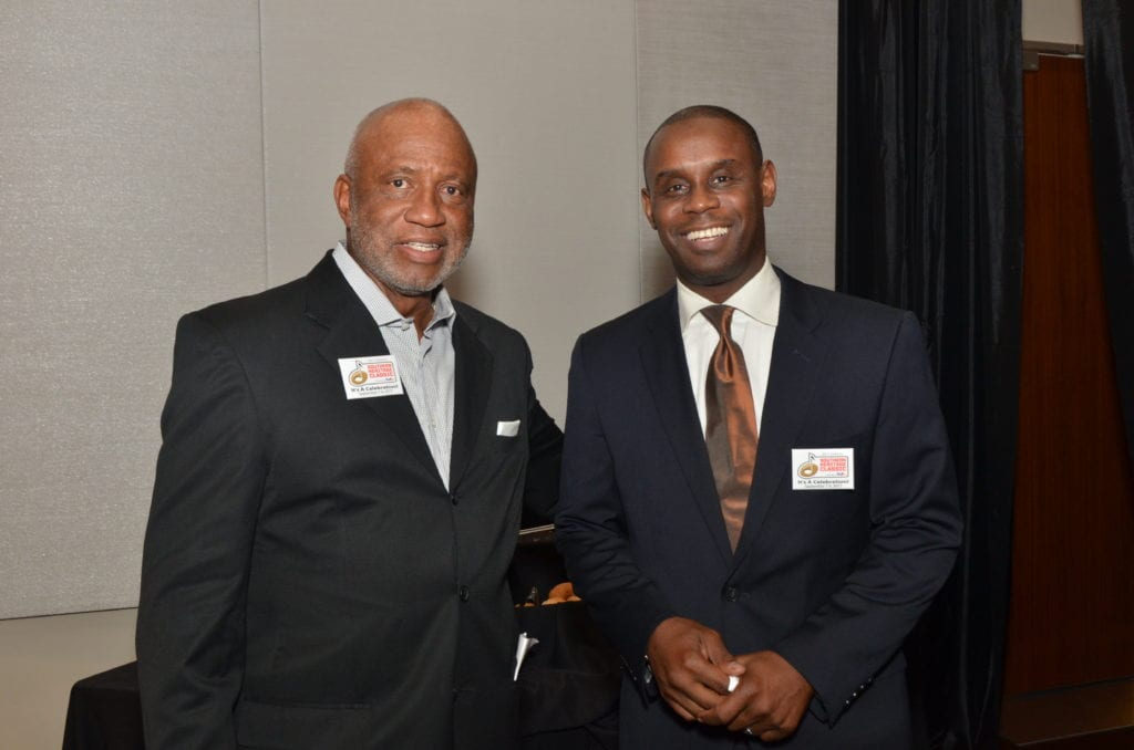 7The Presidents's Reception-Hosted By Mayor Jim Strickland-Photo 4860 Fred Jones Jr. and son Nathaniel Jones,