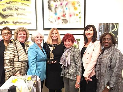 1a.Nashville ATHENA recipients Joyce Searcy, Pat Pierce, ATHENA Founder Martha Mertz, Mayor Barry, Yvonne Wood, ATHENA International President Andrea Conner, Phyllis Qualls Brooks
