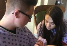 Proud parents, Brooke and Dakota Smith of Clarksville, Tenn. hold their new baby girl, Isabella who was treated in the TriStar Centennial Women's Hospital NICU.