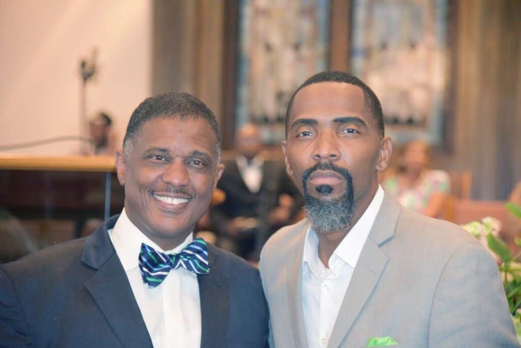 Pastor Jones with Kerry James