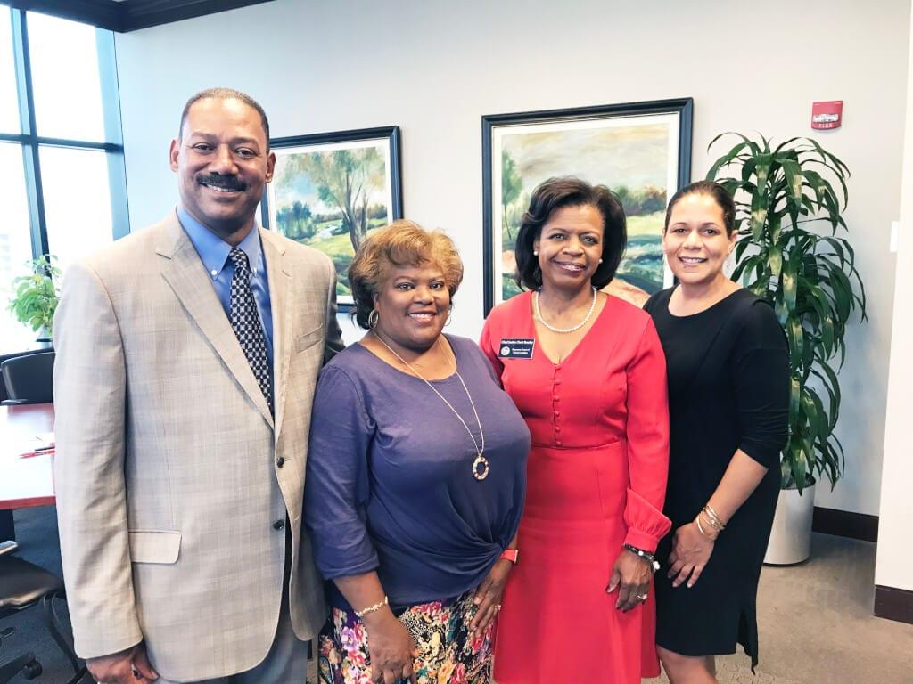 Karl Pulley, Yvette Cain, Chief Justice Cheri Beasley, Ivanetta Davis-Samuels