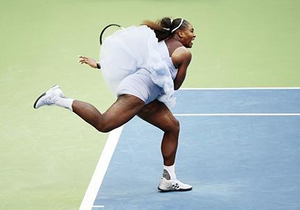 Serena sets US Open record with opening-round win