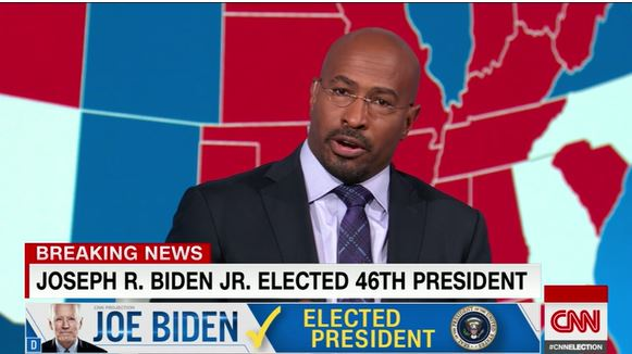 Van Jones weeps on air after CNN calls election for Biden
