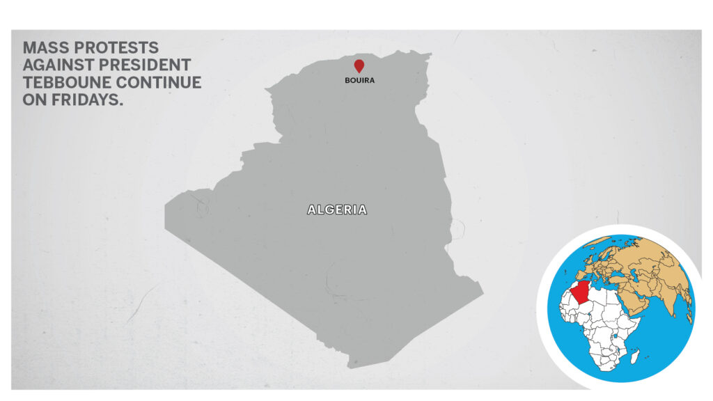 Map of Bouira Algeria