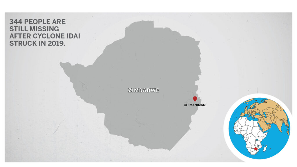 Map of Chimanimani Zimbabwe