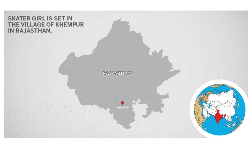Map of Khempur in Rajasthan, India