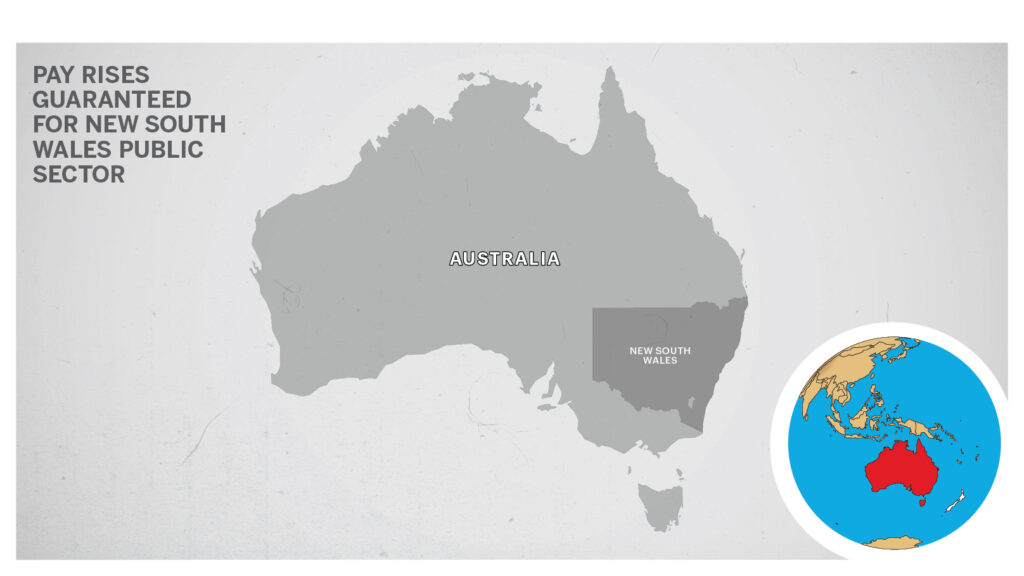 Moap of New South Wales Australia