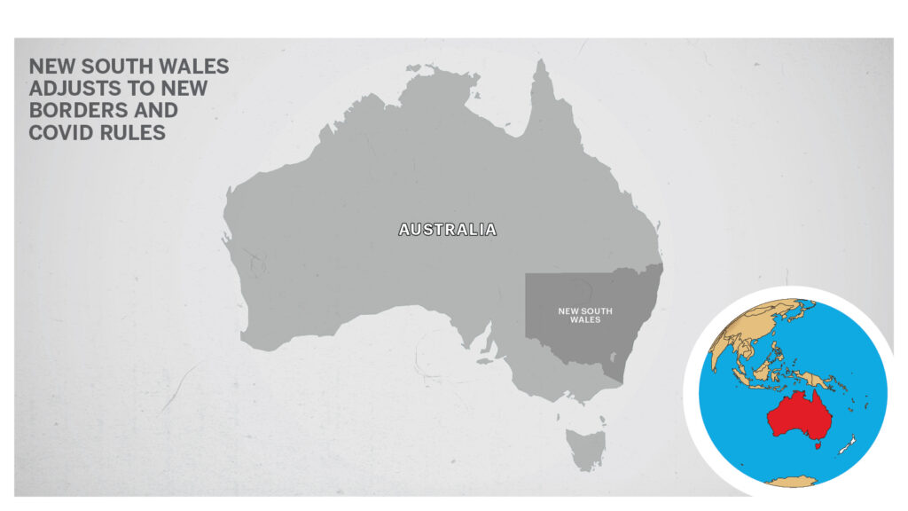 Map of New South Wales Australia