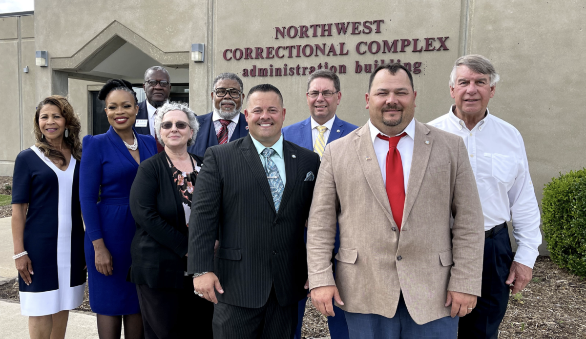 THEI, TDOC and Lane College Administrators at The Northwest Correctional Complex in Tiptonville, Tennessee