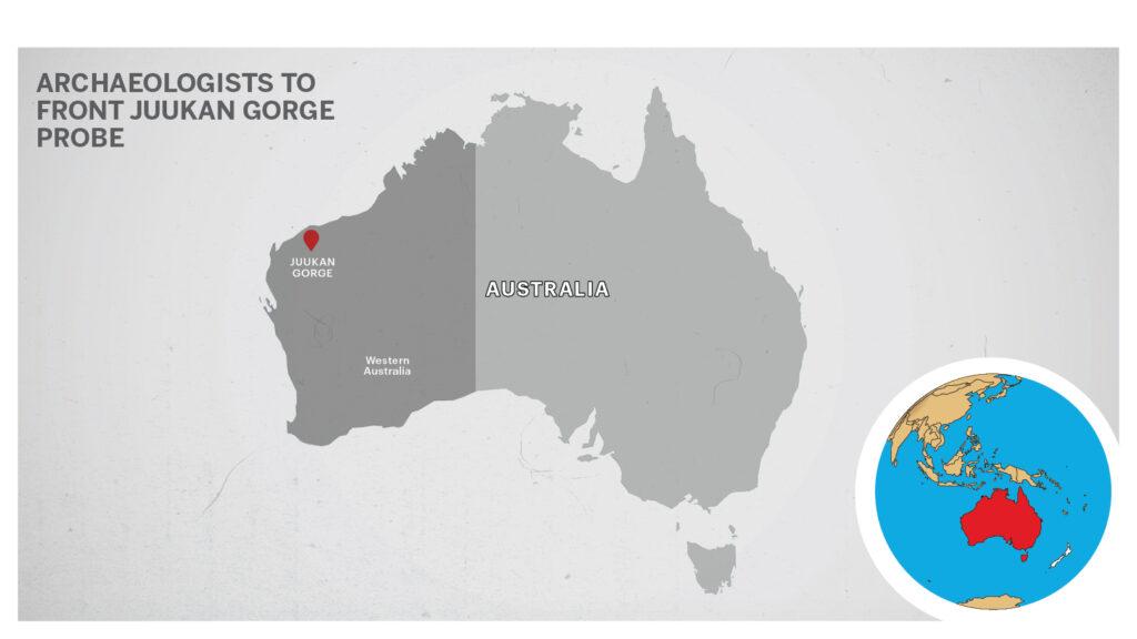 Map of Juukan Gorge Australia