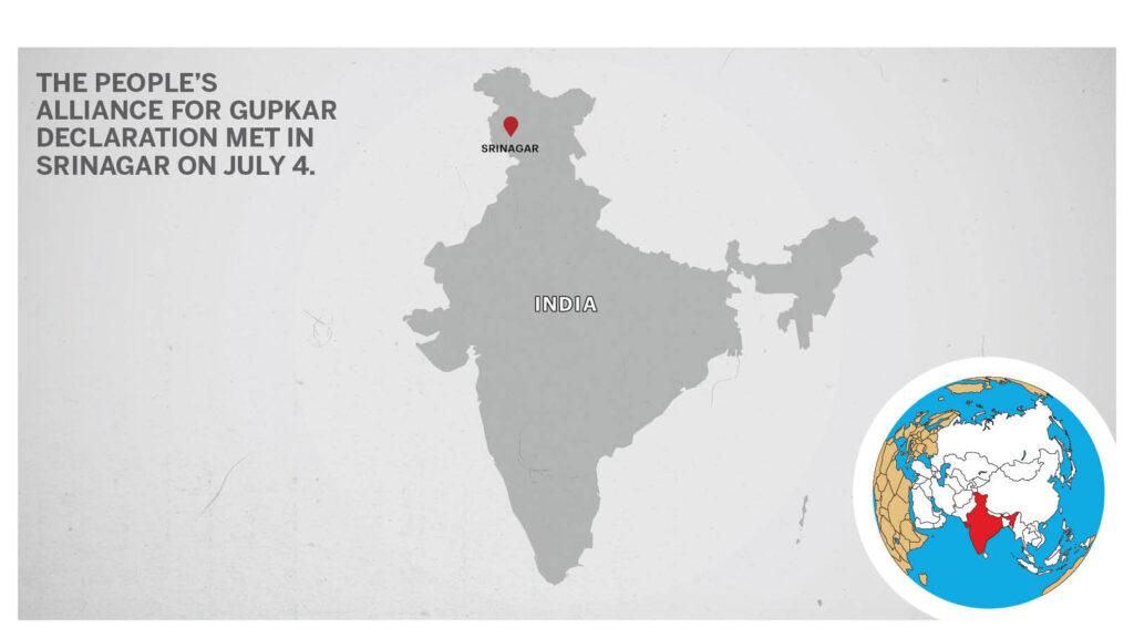 Map of Srinagar India